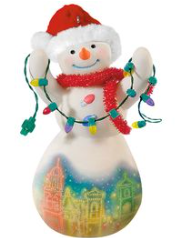 2017 Christmas in Kansas City -Porcelain-Plaza Lights Snowman